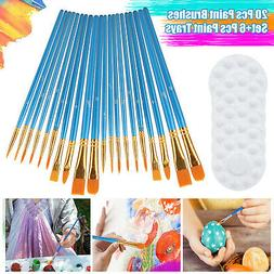 12Pcs Artist Paint Brushes Set Tube&Hair For Watercolor Acry
