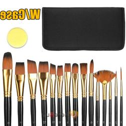 15 Pro Art Painting Brushes Set Acrylic Oil Watercolor Artis