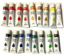 17 PC WATERCOLOR Paint Set Professional Artist Painting Pigm