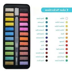 24 Color Watercolor Paint Set With Brush Oil Painting Water