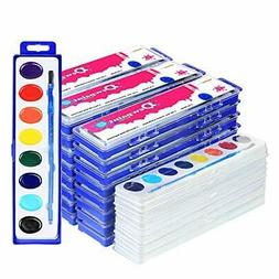 38 Bulk Water Color Oval Paints - 24 Sets and 14 Refills - J
