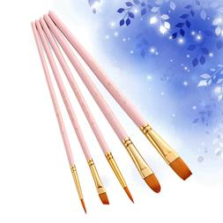 5Pcs Brushes Professional Watercolor Drawing Brushes Set for