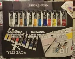 Grumbacher Academy Watercolor Artist' Sketchbox 16pcs Set
