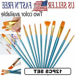 Artist Paint Brushes Set Acrylic Oil Watercolor Craft Art Pa