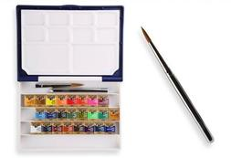 HOLBEIN Artists Watercolor Paint Travel Set - 24 Colors with