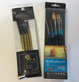Fine New Painting Brushes - Watercolor, Acrylics, Tempera -