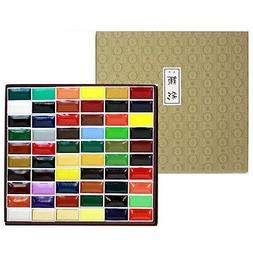 Kissho Gansai Japanese Watercolor Paint 60 Colors Set