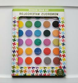 Kid Made Modern Wondrous Watercolor Set New - 30 Colors + Br