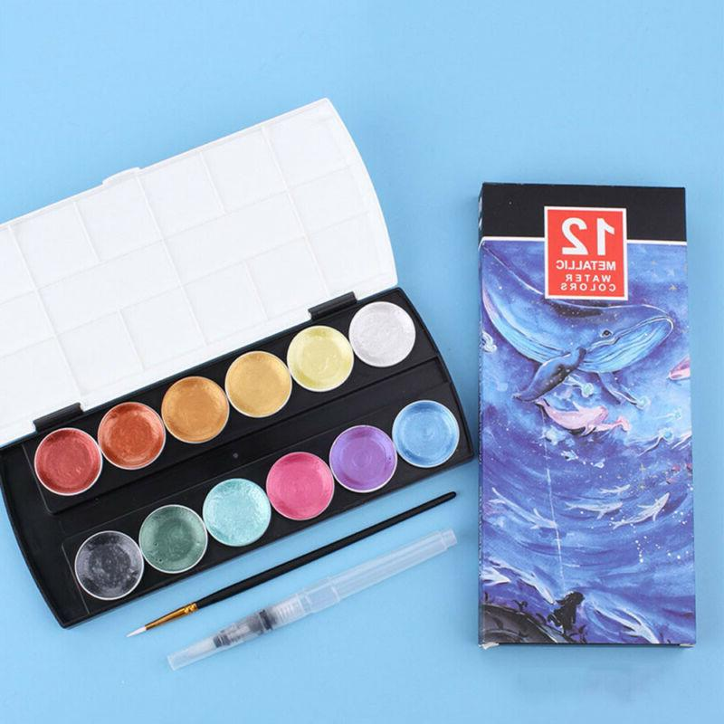 12Color Paint Set With Brush K