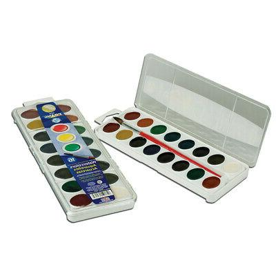 PRANG 16 WASHABLE WATER COLOR SET W/BRUSH
