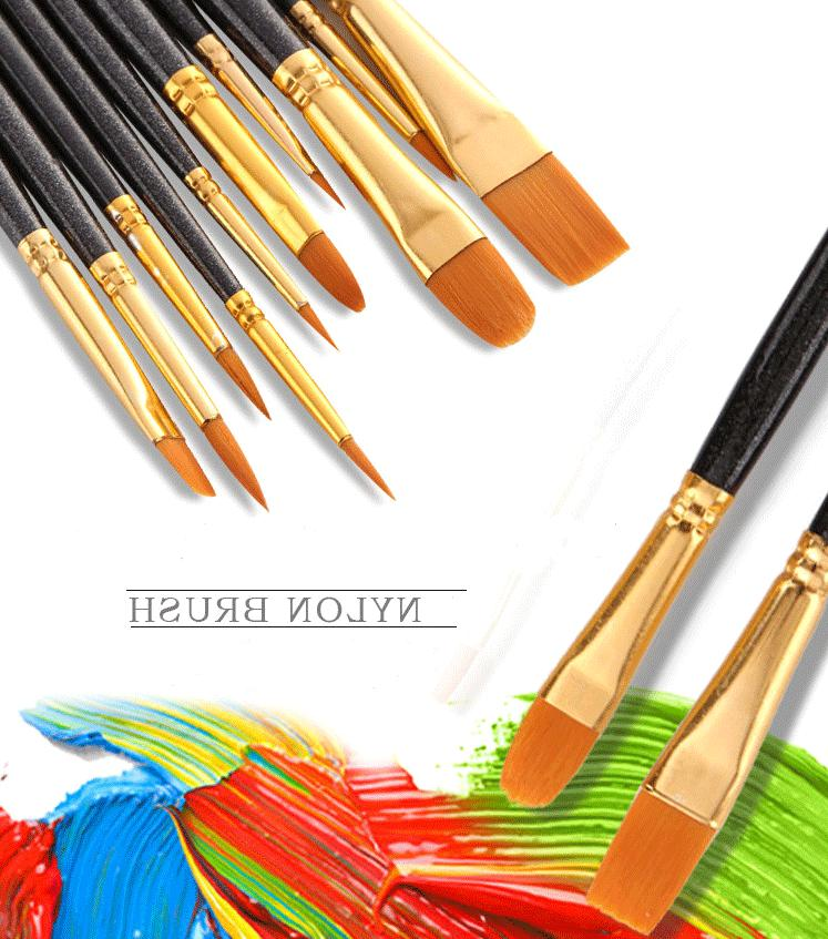36 Color Fundamental Pan Artist 10 Paint Brushes