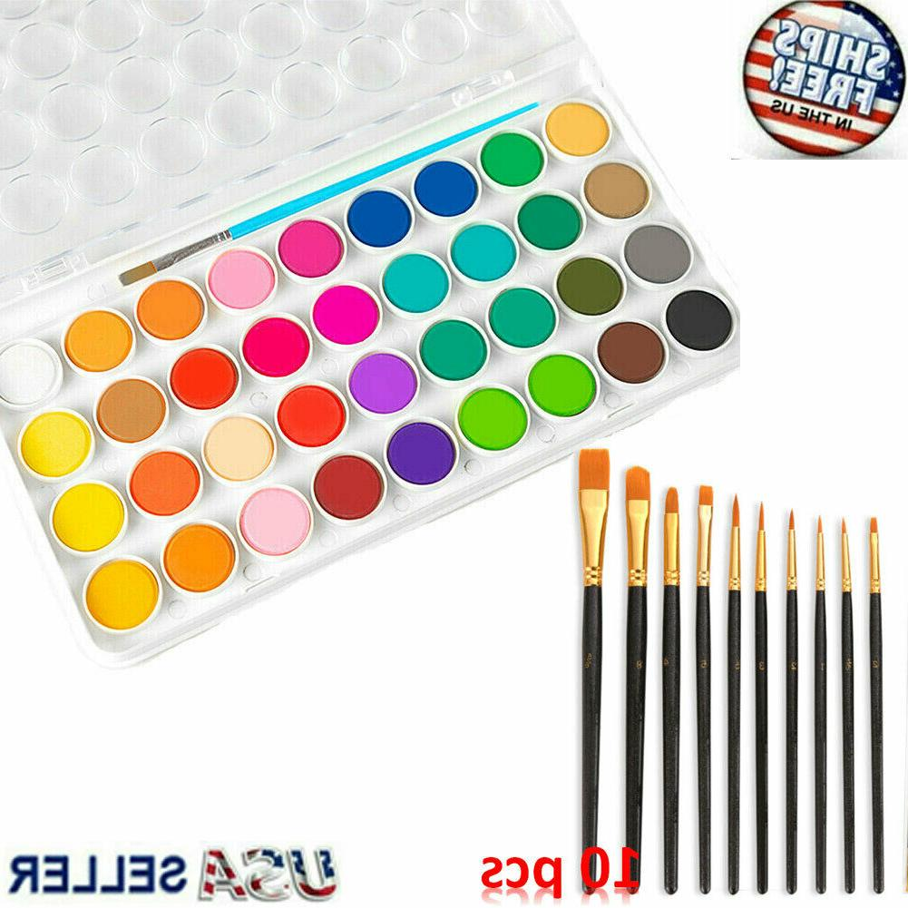 36 color fundamental watercolor pan artist set