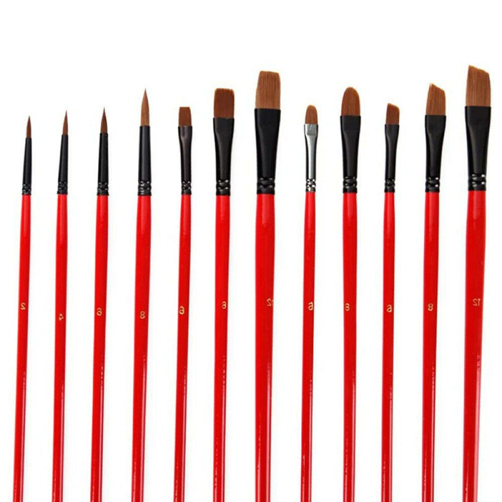 36X Brushes Set W/Canvas Supplies for Painting