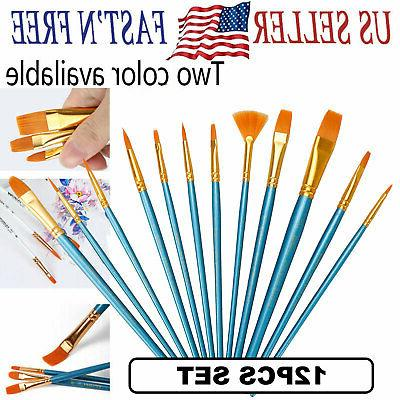 artist paint brushes set acrylic oil watercolor