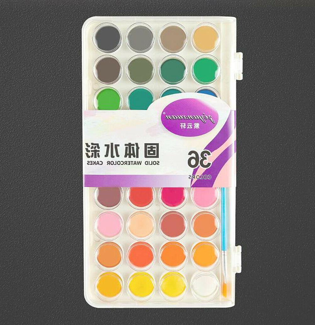 US 36 Color Watercolor Pan and/or 10 Brushes