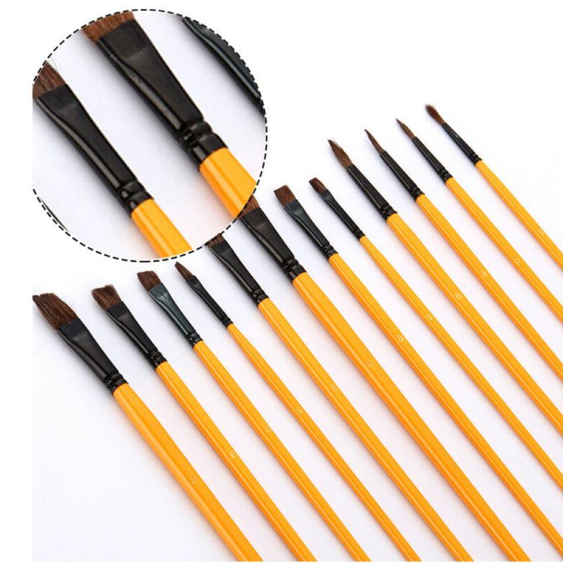 US Paint Synthetic Hair Oil Brushes Supplies