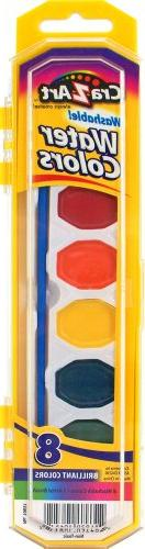 Cra-Z-art Washable Watercolors with Brush, 8 Colors, 1 Tray