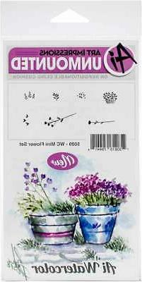 Art Impressions Watercolor Cling Rubber Stamps -Mini Flower