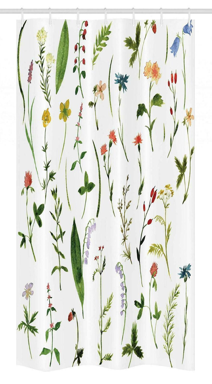 watercolor flower stall 14556 shower curtain set