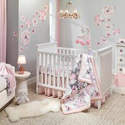 Lambs & Ivy Signature Botanical Baby Watercolor Floral 4-Pie