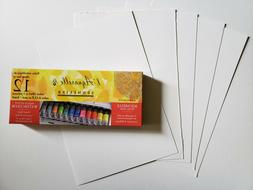 New Sennelier Watercolor Classic Metal Tin Set of 12 Tubes 1