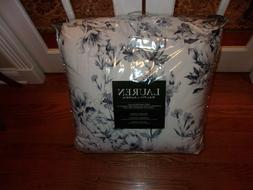 NIP Ralph Lauren Blue White Watercolor Floral King Comforter