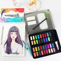 Perfect Watercolor Paint Set With Vibrant Colors Brushes Cha