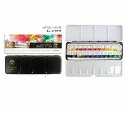 Mungyo Professional Paints Water Color Half Pan with 24 Colo