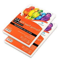 Set of 2-25 Sheets Painting Paper Pad 50 Pages Acrylic Oil W