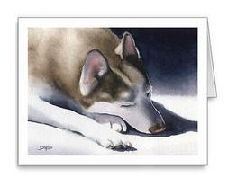 SIBERIAN HUSKY Set of 10 Note Cards With Envelopes