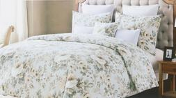 Envogue Watercolor Floral King 3pc Duvet Set Cotton 300 TC