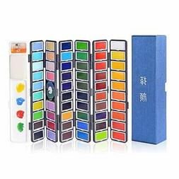 Xileyw Watercolor Paint Set - 58 Assorted Colors Professiona