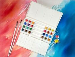 Watercolor Paint Set WHITE NIGHTS Extra Fine 24x2.5ml RUSSIA