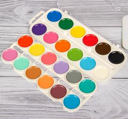 Watercolor Paint Set of 24 colors for Kids Made in Russia Sm