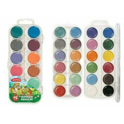 Watercolor Paint Set of 24 colors for Kids Made in Russia Cr