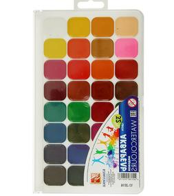 Watercolor Paint Set of 32 colors for Kids Made in Russia