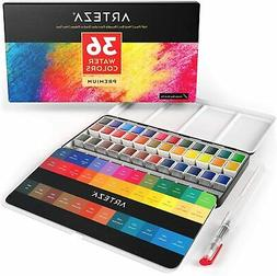 ARTEZA Watercolor Professional Artist Paint, Half Pans, Set