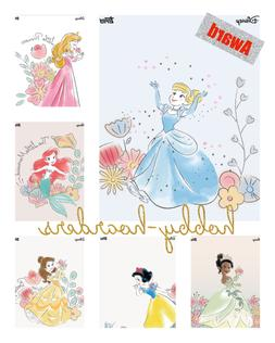 WATERCOLOR WISHES SCENERY 5 CARD SET with AWARD Topps DISNEY